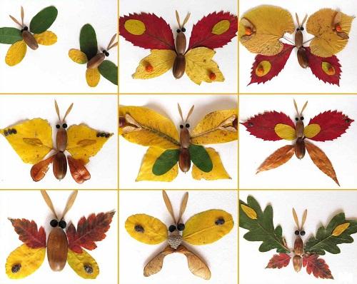 Lieliskas idejas kolāžu veidošanai no rudens lapām