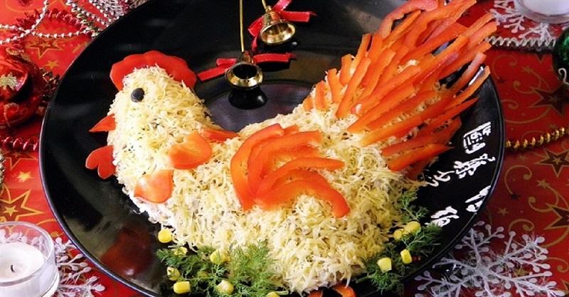 """Jaungada salāti """"Gailis"""", bez kuriem nav iedomājams svētku galds!"""