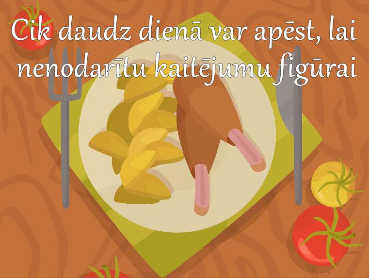 Kādu daudzumu produktu drīkst apēstCik daudz dienā var apēst, lai nenodarītu kaitējumu figūrai