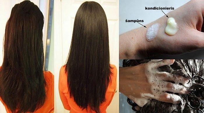 Viņa matu balzām klāja uz matiem vēl pirms to mazgāšanas ar šampūnu. Tagad es arī darīšu tā pat!