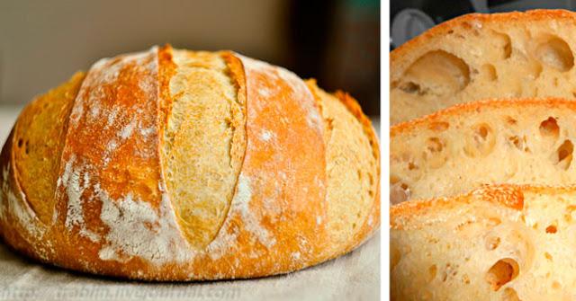 Mājās gatavota maize bez mīcīšanas: recepte ir tik vienkārša, kā viens-divi-trīs! Pufīga, gaisīga, ar kraukšķīgu garoziņu…