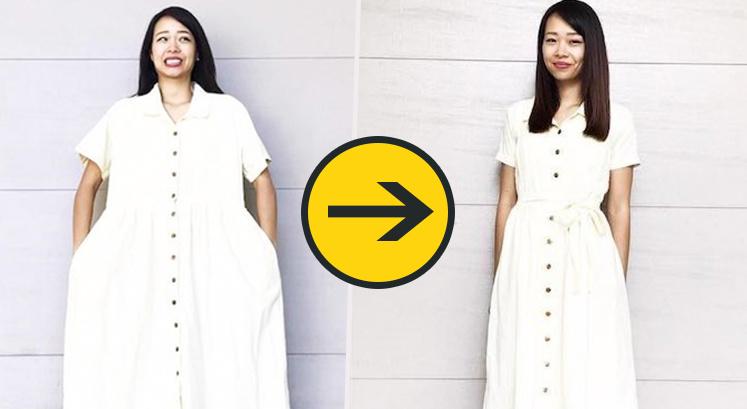 Šī sieviete vecas lietas pārvērš par moderniem un stilīgiem tērpiem