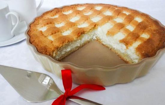 Smilšu pīrāgs ar biezpienu. Labākais, ko no šīs sastāvdaļas var pagatavot