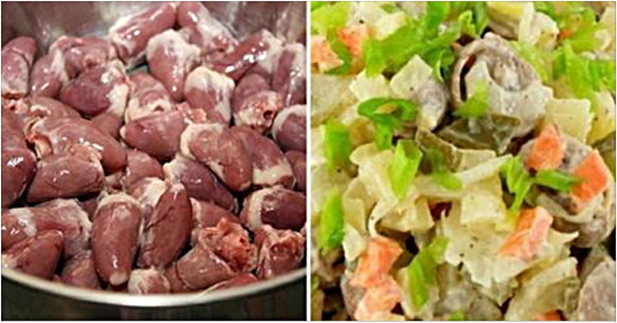 Nopirku 2 kg vistas sirsniņu un pagatavoju tik gardus salātus, ka ciemiņi bija sajūsmā