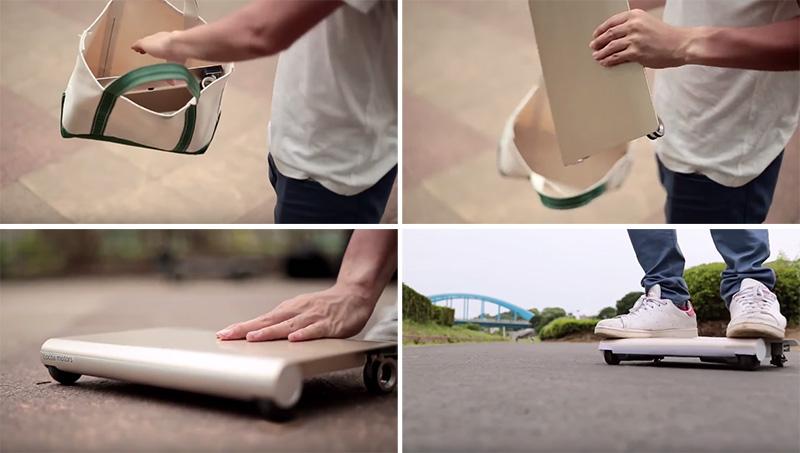 Japāņi izgudroja pirmo mini-transportu, kas ieliekams rokassomiņā