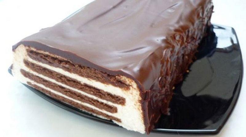 """Biezpiena torte """"Svītrainā"""" bez cepšanas"""