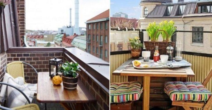 10 nestandarta idejas, kā pašu spēkiem iekārtot nelielu balkonu