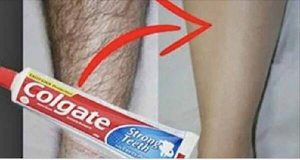 Zobu pasta palīdzēs atbrīvoties no nevēlamajiem matiņiem