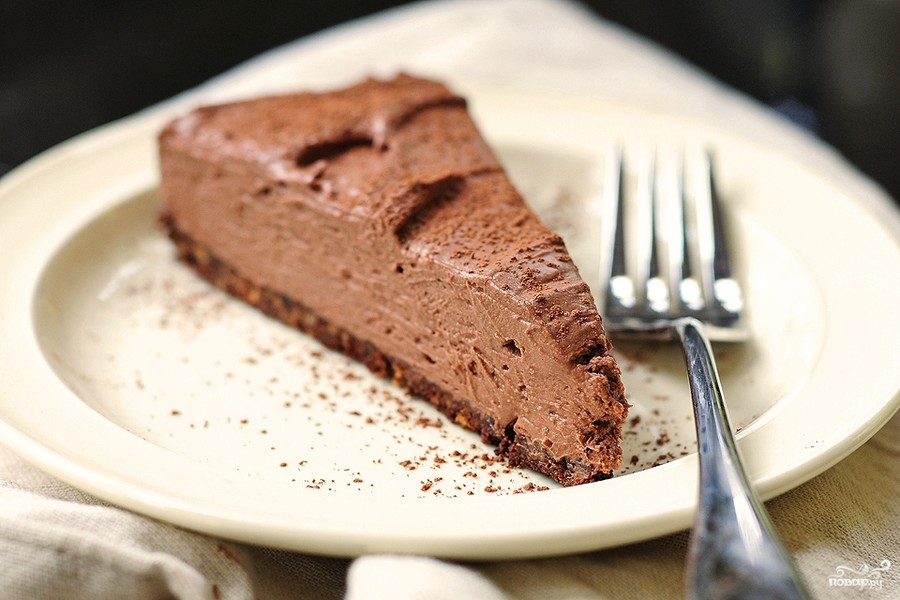 Garšīga šokolādes torte, kuru gatavo bez cepšanas