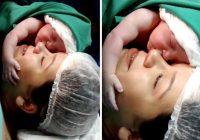 Medmāsas zaudēja valodu, kad ieraudzīja, kā jaundzimušais pirmo reizi apskauj māmiņu