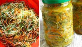 Gurķi korejiešu gaumē ar burkāniem: satriecoši salāti