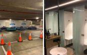 Katru nakti šī autostāvvieta pārvēršas par bezpajumtnieku nakšņošanas vietu. Tā nolēma saimnieks