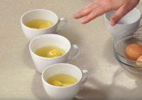 Vāru olas savādāk: iesitu krūzītē, un pēc tam ieleju pannā
