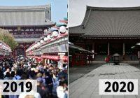 24 attēli ar slavenām vietām pirms un pēc koronavīrusa uzliesmojuma