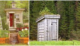 Šie cilvēki spējuši izveidot āra tualetes kā mazus šedevrus. Iedvesmojies un radi!