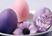 Gatavojam dabīgu violetu krāsu olu krāsošanai: no bazilika, lilijām, vīnogām un ne tikai
