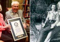 Viņai ir 105 gadi, viņam ir 106. Viņi nosvinēja savu astoņdesmito gada dienu. Tā gan ir mīlestība!